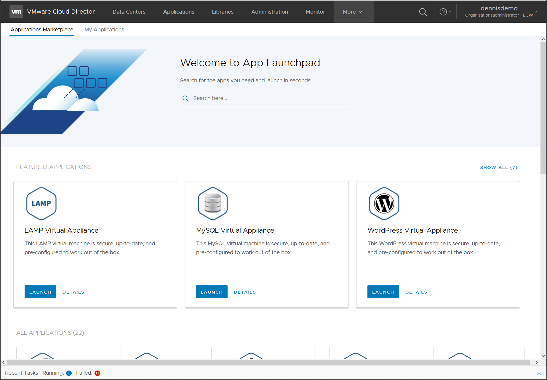 VMware Application Launchpad